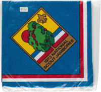 Boy Scouts: 1973 National Scout Jamboree Neckerchief in the Original Unopened Package Directly From The Armstrong Family...