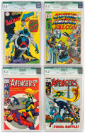 Silver Age (1956-1969):Superhero, Marvel/DC CGC-Graded Silver and Bronze Age Comics Group of 4 (Marvel/DC, 1968-71).... (Total: 4 Comic Books)