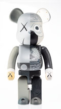 Collectible, KAWS X BE@RBRICK. Dissected Companion 1000% (Grey), 2010. Painted cast vinyl. 28 x 13-1/4 x 9-1/2 inches (71.1 x 33.7 x ...