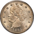 1883 5C With Cents MS66+ PCGS. CAC