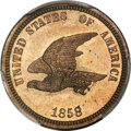 Patterns, 1858 P1C Flying Eagle Cent, Judd-203, Pollock-247, R.5, PR65 PCGS. CAC....