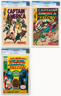 Bronze Age (1970-1979):Superhero, Captain America #104, 135, and 139 CGC-Graded Group (Marvel, 1968-71).... (Total: 3 Comic Books)