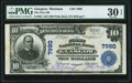 National Bank Notes:Montana, Glasgow, MT - $10 1902 Plain Back Fr. 625 The First National Bank Ch. # 7990 PMG Very Fine 30 EPQ.. ...