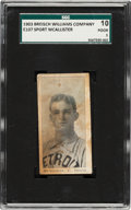 Baseball Cards:Singles (Pre-1930), 1903 E107 Breisch Williams Sport McAllister (Blank Back) SGC 10 Poor 1. ...