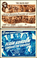 "Movie Posters:Serial, Flash Gordon Conquers the Universe (Universal, 1940). Fine/Very Fine. Stock Title Lobby Card & Chapter Title Lobby Card (11""... (Total: 2 Items)"