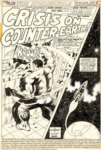 Herb Trimpe and Jack Abel Incredible Hulk#176 Complete 18-Page Story -- 16 Original Art and Two Stat Pages (Marve