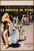 "Movie Posters:Foreign, La Dolce Vita (Consortium Pathé, 1960). Folded, Very Fine-. French Petite (15.75"" X 23.5"") Yves Thos Artwork. Foreign.. ..."
