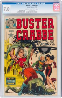 Buster Crabbe #5 (Famous Funnies Publications, 1952) CGC FN/VF 7.0 Light tan to off-white pages