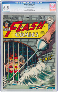 Flash Comics #87 (DC, 1947) CGC FN+ 6.5 Dark tan to off-white pages