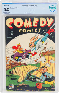 Comedy Comics #22 (Timely, 1944) CBCS VG/FN 5.0 Cream to off-white pages