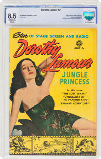 Dorothy Lamour #2 Mile High Pedigree (Fox, 1950) CBCS VF+ 8.5 Off-white to white pages