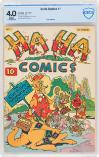 Ha Ha Comics #1 (ACG, 1943) CBCS VG 4.0 White pages