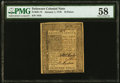 Colonial Notes:Delaware, Delaware January 1, 1776 18d PMG Choice About Unc 58.. ...