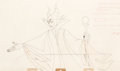 Animation Art:Production Drawing, Sleeping Beauty Maleficent Animation Pan Drawing (Walt Disney, 1959).. ...