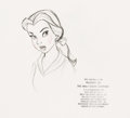 Animation Art:Production Drawing, Beauty and the Beast Belle Productio...