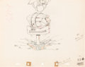 Animation Art:Production Drawing, On Ice Mickey Mouse Vintage Production Drawing (Walt Disney, 1935).. ...