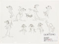Animation Art:Model Sheet, The Lion King Original Timon Model Sheet (Walt Disney, 1994).. ...