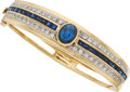 Estate Jewelry:Bracelets, Sapphire, Diamond, Gold Bracelet . ...