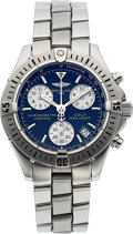 Timepieces:Wristwatch, Breitling, Colt, Steel Chronograph, Ref. A73350. ...