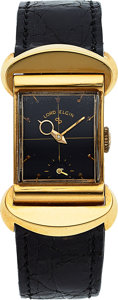 "Timepieces:Wristwatch, Elgin, Rare 18k Gold ""50 Millionth Anniversary"" Watch, circa 1951. ..."
