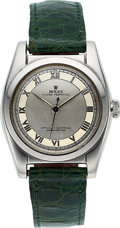 Timepieces:Wristwatch, Rolex, Steel Bubble Back, Two Tone Dial, ref. 2940, circa 1940. ...