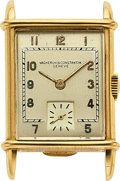 Timepieces:Pocket (pre 1900) , Vacheron & Constantin, 18k Yellow Gold Vintage Rectangular, circa 1940. ...