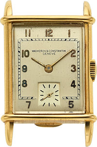 Vacheron & Constantin, 18k Yellow Gold Vintage Rectangular, circa 1940