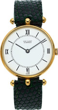Timepieces:Wristwatch, Van Cleef & Arpels, 14k Gold Wristwatch. ...