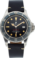 "Timepieces:Wristwatch, Rolex, Ref. 1665 ""Double Red"" Sea-Dweller Submariner, Stainless Steel, Circa 1972. ..."