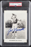 Autographs:Sports Cards, Signed 1965-66 New York Jets Team Issued Photograph Joe Namath PSA/DNA Authentic, Autograph 10. ...