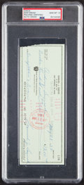 Autographs:Checks, 1985 Sam Snead Signed Check Made Out to His Wife, PSA/DNA Gem Mint 10....