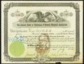 Ancient Order of Hibernians O'Donnell Memorial Association Stock Certificate 4 Shares July 14, 1905 Very Fine