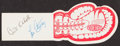 Miscellaneous Collectibles:General, 1947 Abbott & Costello Dual-Signed Boxing Ticket....