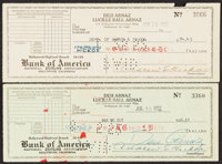 1952 Lucille Ball & Desi Arnaz Signed Check Lot of 2