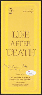"1989 Muhammad Ali Signed ""Life After Death"" Pamphlet"