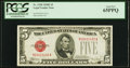 Small Size:Legal Tender Notes, Fr. 1530 $5 1928E Legal Tender Note. PCGS Gem New 65PPQ.. ...