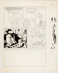 "Bernie Wrightson Web of Horror Unfinished False-Start Page 3 of ""The Monster Jar,"" Orphaned Story Original Art..."