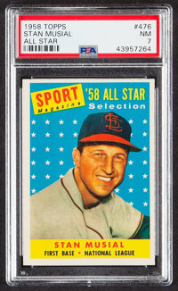 1958 Topps Stan Musial (All Star) #476 PSA NM 7