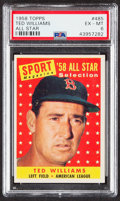 Baseball Cards:Singles (1950-1959), 1958 Topps Ted Williams (All Star) #485 PSA EX-MT 6....