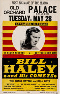 "Music Memorabilia:Posters, Bill Haley & His Comets 1957 Concert Poster with ""Rock Around the Clock"" Listed..."