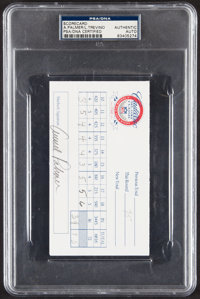 1997 Arnold Palmer & Lee Trevino Dual-Signed Cadillac NFL Golf Classic Scorecard, PSA/DNA Authentic