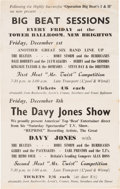Music Memorabilia:Posters, Beatles 1961 Concert Flyer for Big Beat Sessions at the Tower Ballroom, New Brighton...