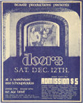 Music Memorabilia:Posters, The Doors 1970 New Orleans Handbill for Final Show with Jim Morrison...