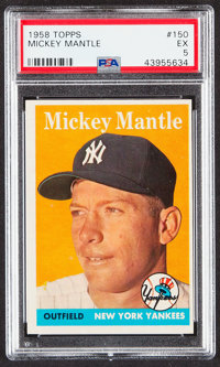 1958 Topps Mickey Mantle #150 PSA EX 5
