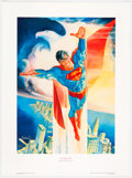 Memorabilia:Comic-Related, José Luis García-López Superman 50th Anniversary Signed Limited Edition Print Artist's Proof #63/125 (First Team P...