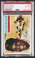 Baseball Cards:Singles (1950-1959), 1956 Topps Willie Mays (Gray Back) #130 PSA VG-EX 4....