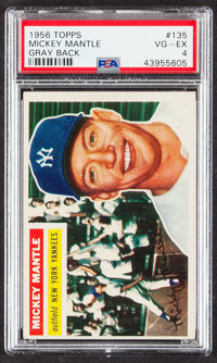 1956 Topps Mickey Mantle (Gray Back) #135 PSA VG-EX 4