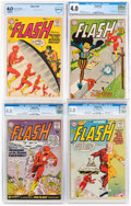 Silver Age (1956-1969):Superhero, The Flash Certified Group of 4 (DC, 1959-61).... (Total: 4 )