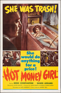 "Hot Money Girl (United Producers, 1961). Folded, Very Fine+. One Sheet (27"" X 41""). Crime"