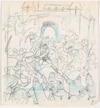Wally Wood All-Star Comics #64 Cover and Other Preliminary Original Art Group of 6 (DC, 1977).... (Total: 6 Original Art...